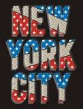 02 Bandeira nova da cidade de Yorj da tipografia, ilustração royalty free