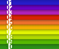 Bandeira numerada colorida Fotografia de Stock Royalty Free
