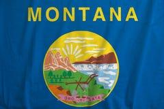 Bandeira ondulação de Montana, EUA fotografia de stock