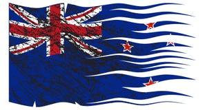 Bandeira ondulada Grunged de Zealand ilustração royalty free
