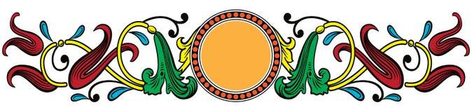 Bandeira ou beira artística ilustração do vetor