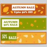 Bandeira ou encabeçamento da venda do outono para a Web ou a cópia Imagem de Stock Royalty Free