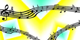 Bandeira ou fundo da música Imagem de Stock
