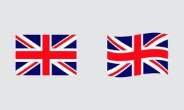 Bandeira padrão editorial da bandeira de Inglaterra e bandeira ondulada ilustração royalty free
