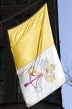 Bandeira papal Fotografia de Stock Royalty Free
