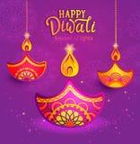 Bandeira para Diwali feliz Ilustração Stock