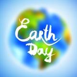 Bandeira para o Dia da Terra Fotos de Stock Royalty Free