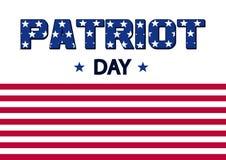 Bandeira para o dia do patriota Bandeira dos EUA Vetor ilustração stock