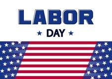 Bandeira para o Dia do Trabalhador, bandeira dos EUA Vetor ilustração stock