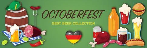 Bandeira para o festival da cerveja de outubro Fotografia de Stock