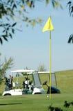Bandeira para o golfe imagens de stock