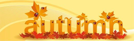Bandeira para o outono das estações ilustração royalty free