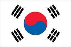 Bandeira para o sul do coreano Foto de Stock Royalty Free