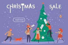 Bandeira para a venda do Natal Imagem de Stock
