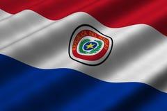 Bandeira paraguaia ilustração do vetor