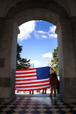 Bandeira patriótica Fotos de Stock Royalty Free