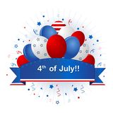 Bandeira patriótica com balões Foto de Stock Royalty Free