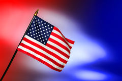 Bandeira patriótica dos E.U. do americano com estrelas e listras Fotografia de Stock Royalty Free