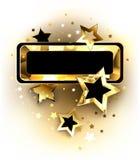 Bandeira pequena com estrelas douradas Imagens de Stock Royalty Free