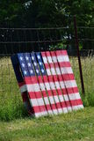 Bandeira pintada no pallett de madeira Imagens de Stock Royalty Free