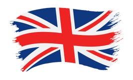Bandeira pintada pincelada de Reino Unido imagens de stock royalty free