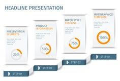 A bandeira pisa molde infographic do negócio Pode ser usado para a disposição do design web e dos trabalhos Ilustration do vetor Imagem de Stock Royalty Free