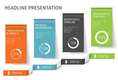 A bandeira pisa molde infographic do negócio Pode ser usado para a disposição do design web e dos trabalhos Ilustration do vetor Foto de Stock Royalty Free