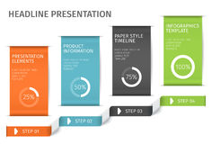A bandeira pisa molde infographic do negócio Pode ser usado para a disposição do design web e dos trabalhos Ilustration do vetor Fotografia de Stock
