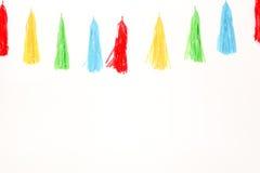 Bandeira plástica colorida da corda Imagens de Stock