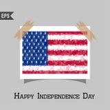 Bandeira poligonal geométrica dos EUA do vetor Fotos de Stock