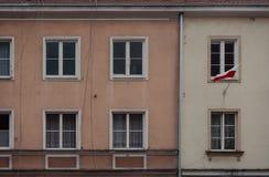 Bandeira polonesa fotografia de stock