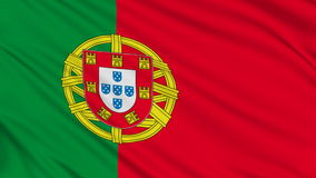 Bandeira portuguesa. video estoque