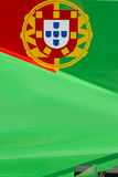 Bandeira portuguesa no carro de corridas Fotografia de Stock