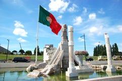 Bandeira portuguesa no parque de Eduardo VII Imagem de Stock