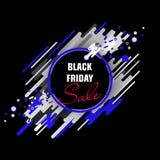 Bandeira preta da venda de sexta-feira Imagens de Stock