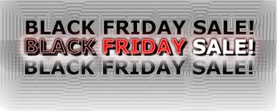 Bandeira preta da venda de sexta-feira imagem de stock