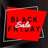 Bandeira preta da venda de sexta-feira Molde do disconto abstraia o fundo Fotografia de Stock