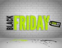 Bandeira preta de sexta-feira Imagem de Stock