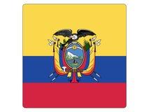 Bandeira quadrada de Equador ilustração stock