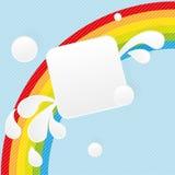 Bandeira quadrada de papel Fotos de Stock