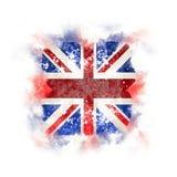 Bandeira quadrada do grunge de Reino Unido Foto de Stock