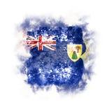 Bandeira quadrada do grunge de Turks and Caicos Islands Imagens de Stock