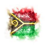 Bandeira quadrada do grunge de vanuatu Fotografia de Stock
