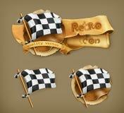 Bandeira quadriculado Imagens de Stock Royalty Free