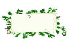 Bandeira quadro Natal ilustração stock