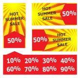 Bandeira quente da venda do verão Imagens de Stock Royalty Free