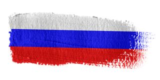 Bandeira Rússia do Brushstroke Fotografia de Stock Royalty Free