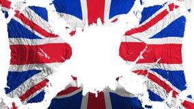 Bandeira rasgada BRITÂNICA de Reino Unido que vibra no vento ilustração royalty free