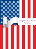 Bandeira rasgada dos EUA Imagem de Stock Royalty Free