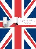 Bandeira rasgada dos EUA Reino Unido Fotos de Stock
